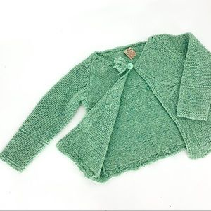 VINTAGE Irish Aran wool sweater cardigan knit